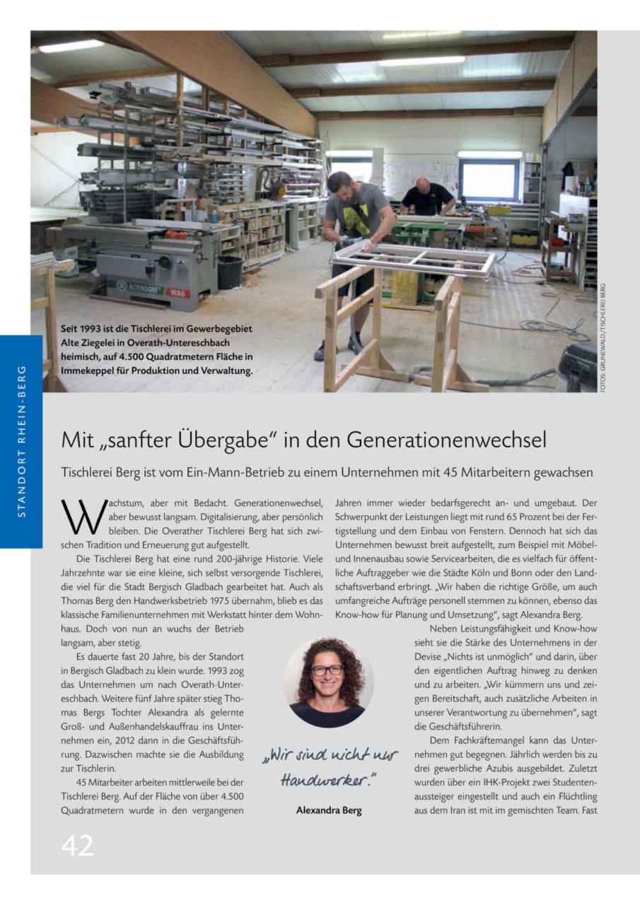 Artikel Punktrbw 4 2018 Tischlerei Berg