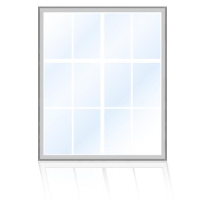Veka-Fenster-Rechteckfenster-sprossen