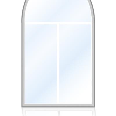 Veka-Fenster-Rundbogenfenster