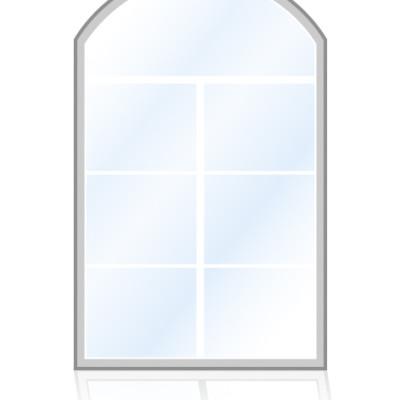 Veka-Fenster-Stichbogenfenster