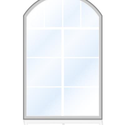Veka-Fenster-Stichbogenfenster-senkrechten-sprossen