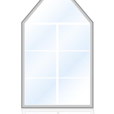 Veka-Fenster-mit-dreieckigem-Oberteil