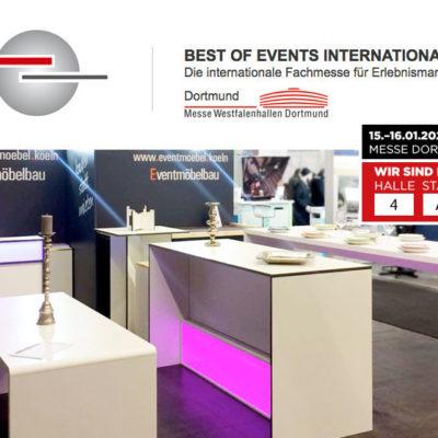 Wir sind auf der BEST OF EVENTS INTERNATIONAL in Dortmund – 15.-16. Januar 2020