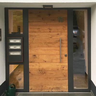 Holz Haustueren Holz Aluminium Eingangstueren